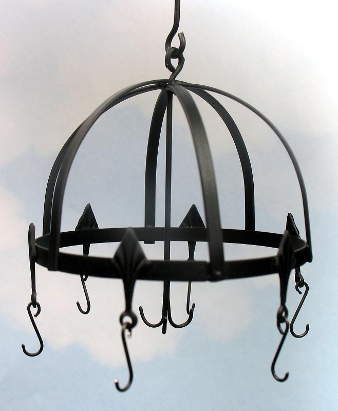 Wrought Iron hanging pot rack 55