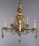 Bluette Chandelier in gold finish 107Gold