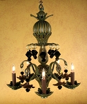 Tuscany Chandelier in Antique Green finish
