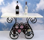 Black Wrought Iron Wine Table