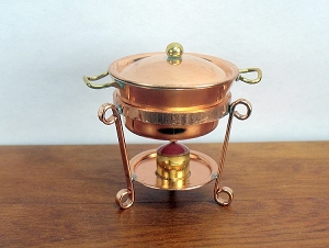 Copper Chafing  Pot on copper stand 554C