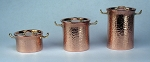 Hammered Copper Pots Set of 3 509