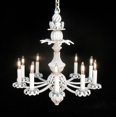 Scarlett Chandelier in White 121-W