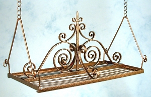 Wrought Iron Rectangle Hanging Pot Rack 56