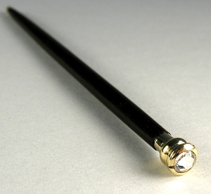 Swarovski crystal handle cane #11