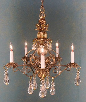 Bluette Chandelier in Antique Bronze finish