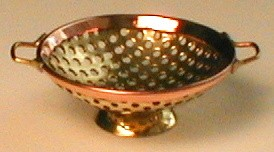Copper and Brass Colander 514