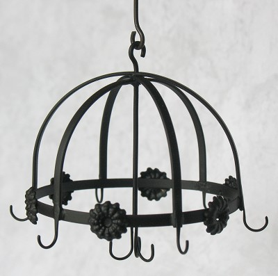 Wrought Iron Hanging Pot Rack 54