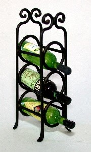 Wrought Iron Standing Wine Rack