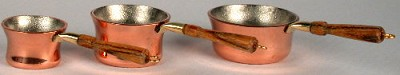 Set of 3 Copper Saucepans  504