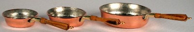 3 Saute' Copper Pan Set 502