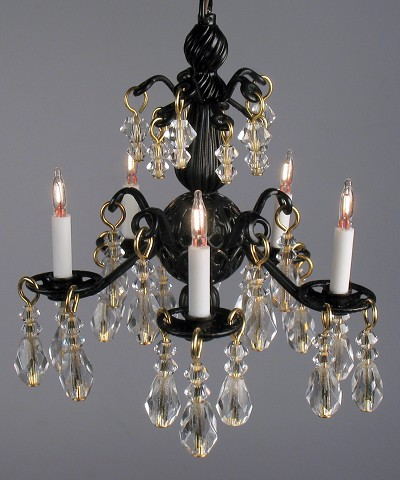 Jacqueline Chandelier in Black 118B