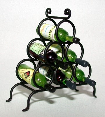 Wrought Iron Wine Rack 120-WR